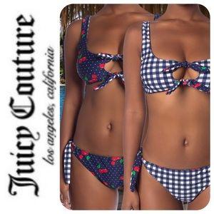 Juicy Couture Reversible Bikini, NWT